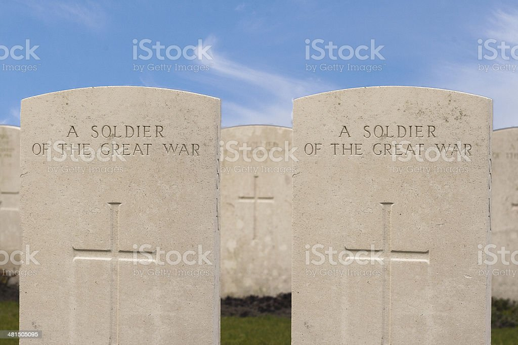 New British Cemetery in flanders fields great world war stock photo