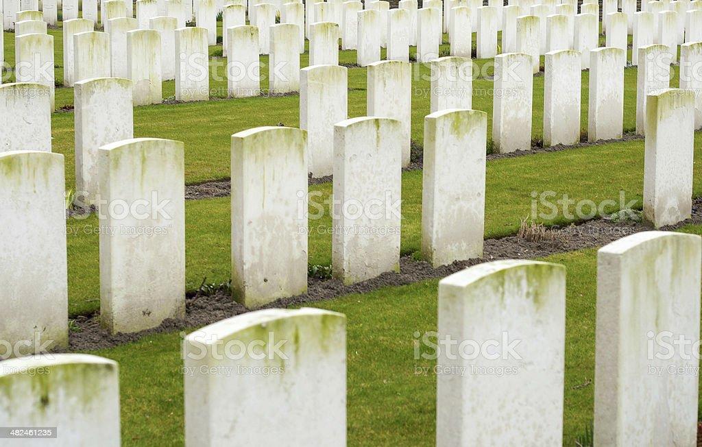 New British Cemetery Irish soldier flanders fields great war stock photo