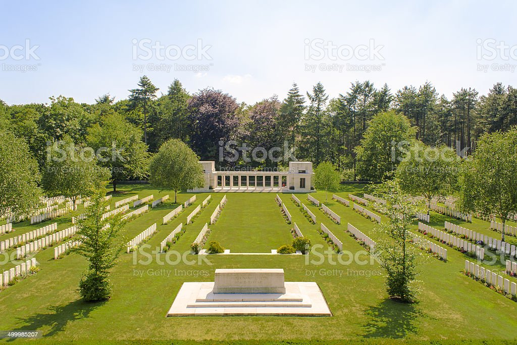 New British Cemetery world war 1 flanders fields stock photo