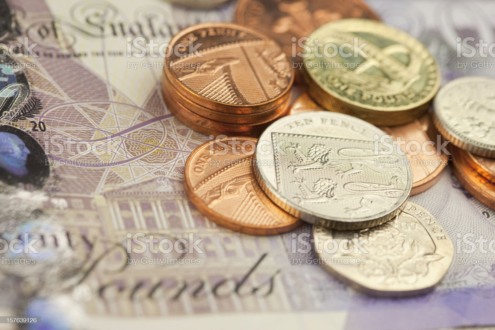 New British Currency royalty-free stock photo