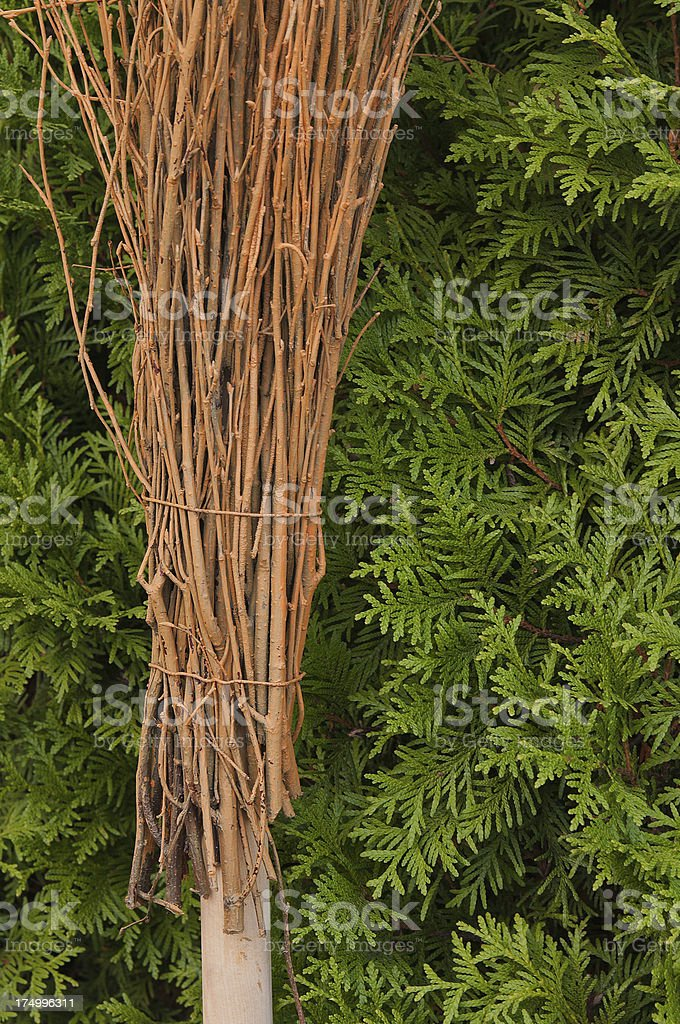 New broom stock photo