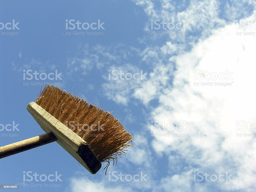 New Brooms Sweep Clean stock photo