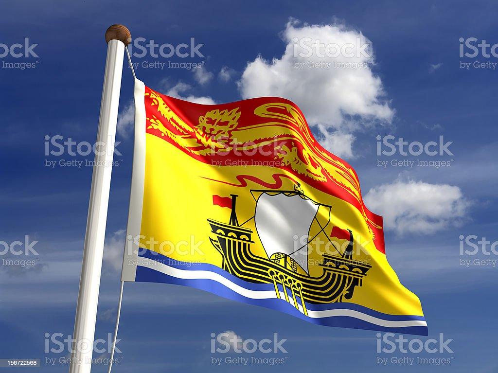 New Brunswick flag Canada stock photo