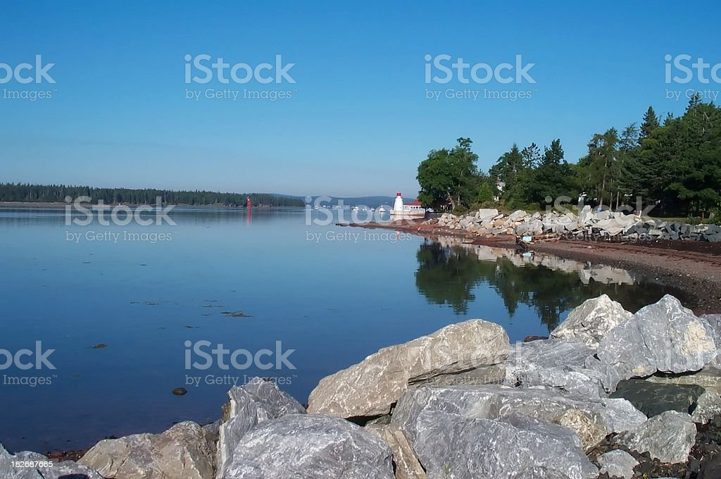 New Brunswick Ocean and lighthouse royalty-free stock photo