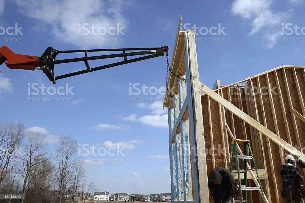 New Build 2 w/ Construction Workers stock photo