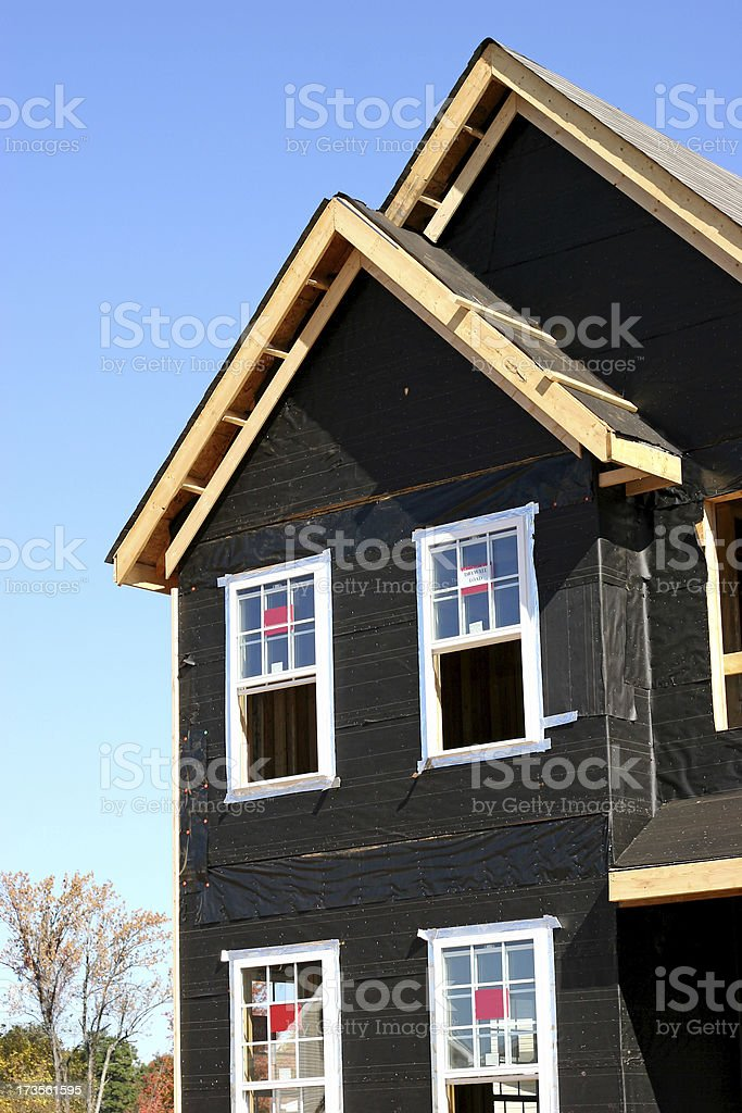 New Build 3 Vertical stock photo