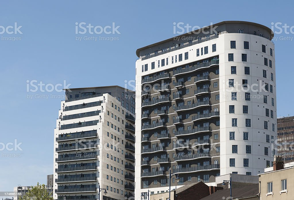 New Build High Rise Apartments in Birmingham royalty-free stock photo