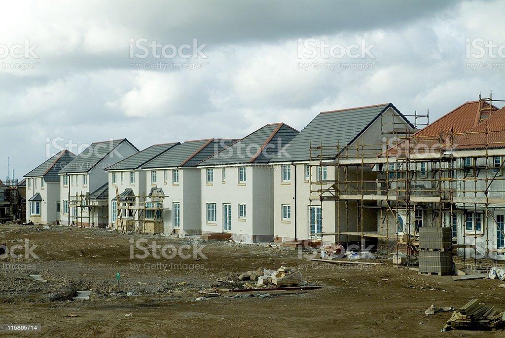 New build homes stock photo