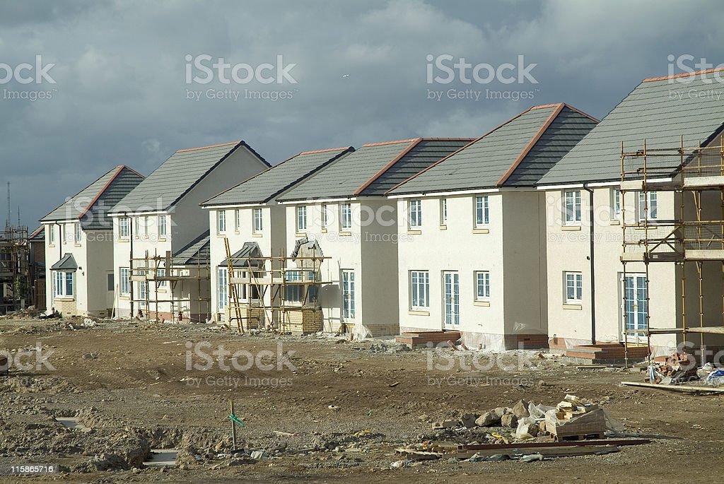 New build houses stock photo