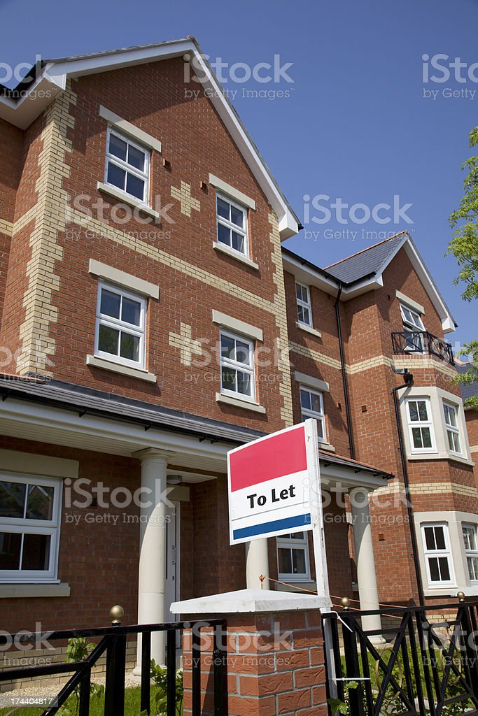 New Build Property to Let royalty-free stock photo