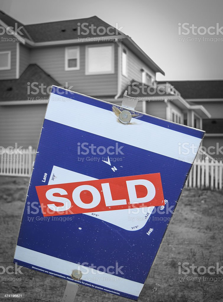 New Build Sold Sign royalty-free stock photo