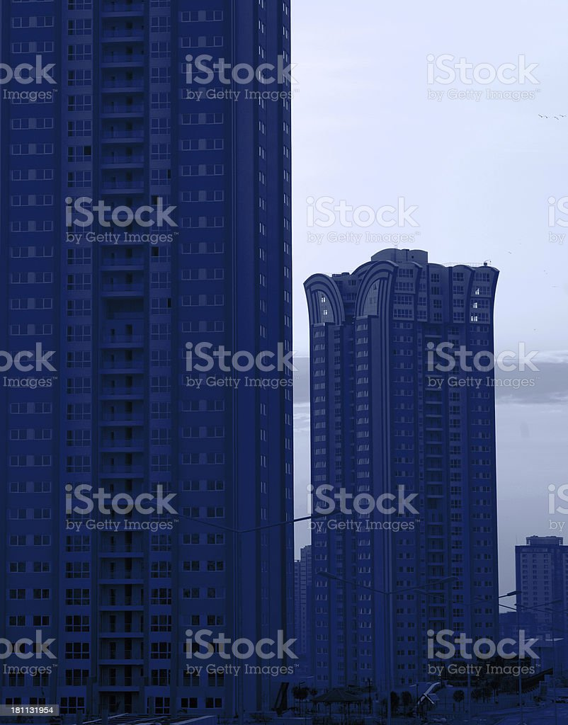New Building Condominium Construction royalty-free stock photo