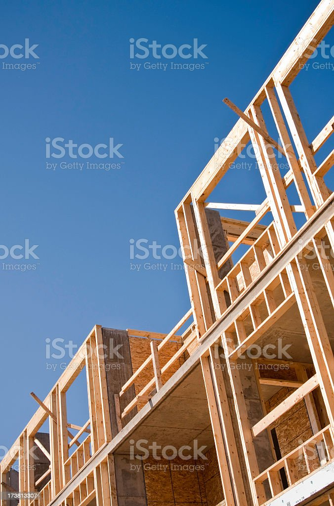 New Building Construction Framing royalty-free stock photo