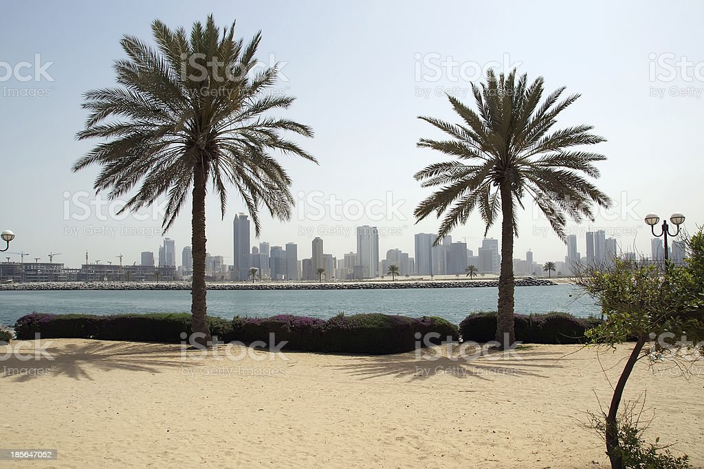 New Buildings as Skyscraper in Dubai,  United Arab Emirates royalty-free stock photo