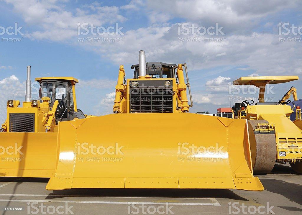 new bulldozers royalty-free stock photo