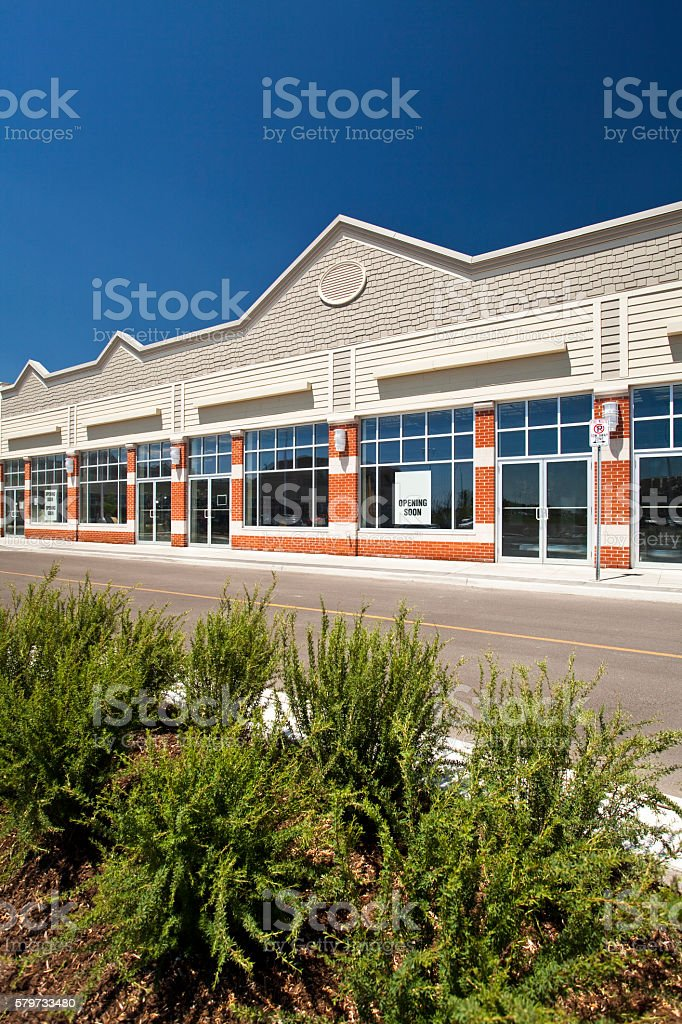 New business building for rent or lease stock photo