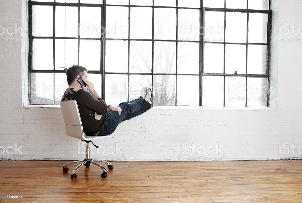 New business owner contemplating the horizon. royalty-free stock photo