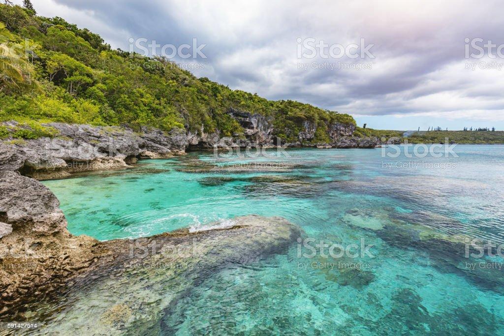New Caledonia Maré Island Nord Bay Loyalty Islands stock photo