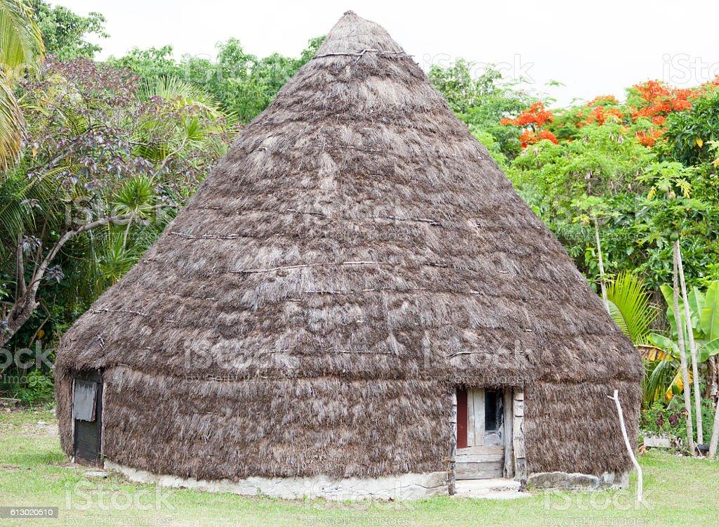 New Caledonia's Hut stock photo