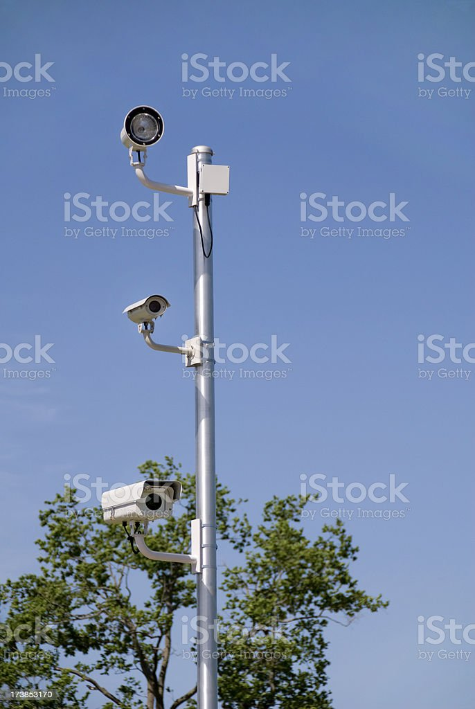 New Cameras See Red Light Traffic Violations stock photo