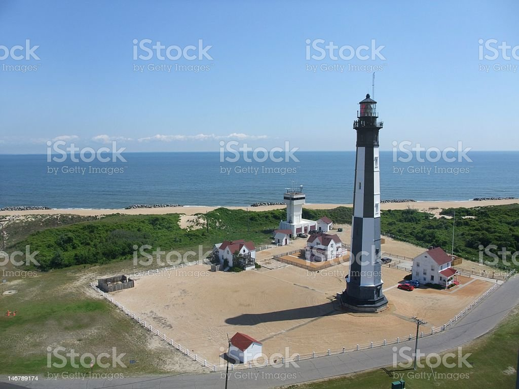 New Cape Henry Lighthouse stock photo