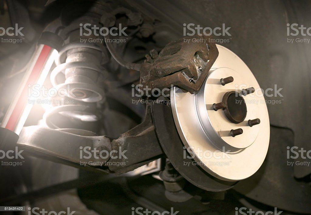 new car break disc stock photo