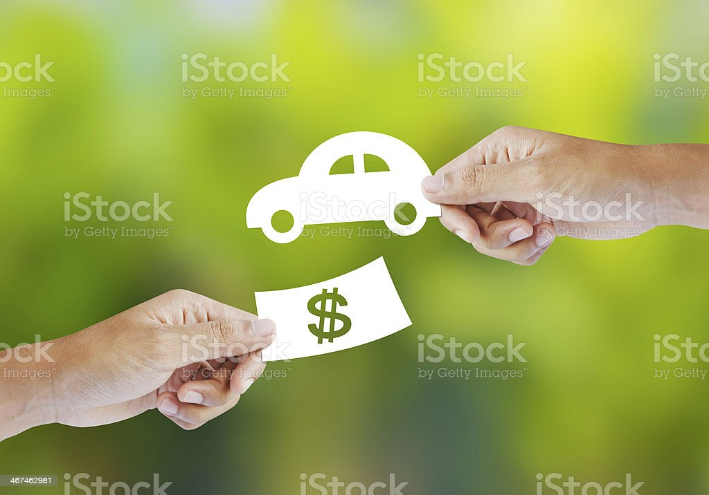 New car buy concept stock photo