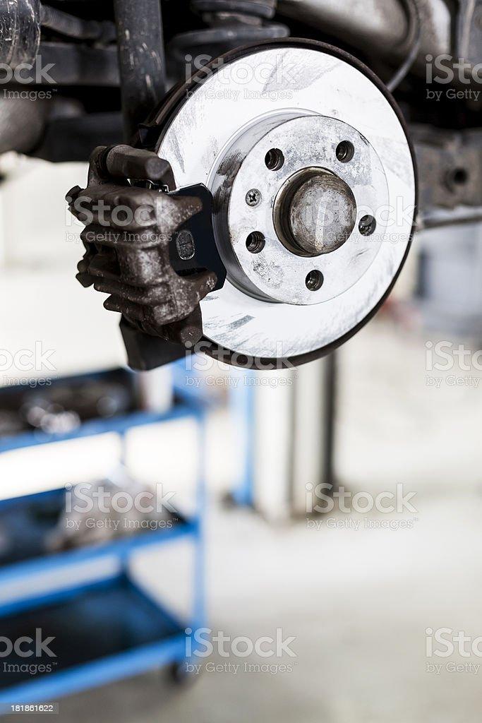 New car disc brakes royalty-free stock photo