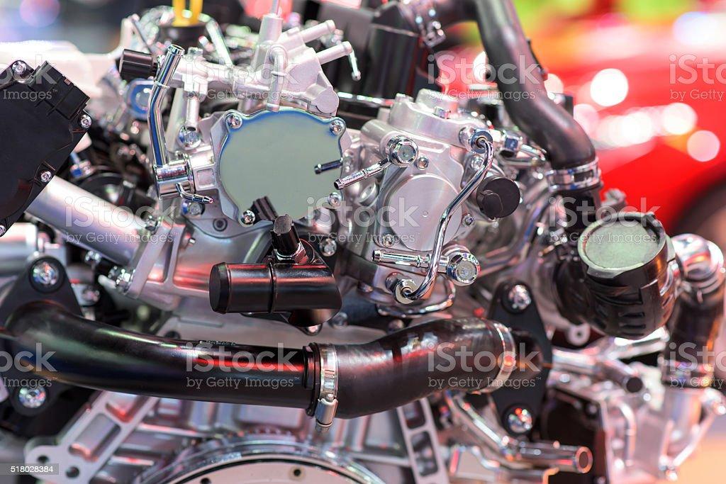 New car engine part stock photo