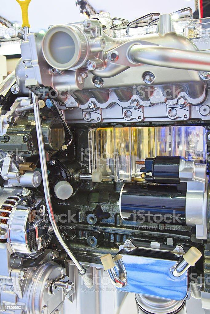 New car engine royalty-free stock photo