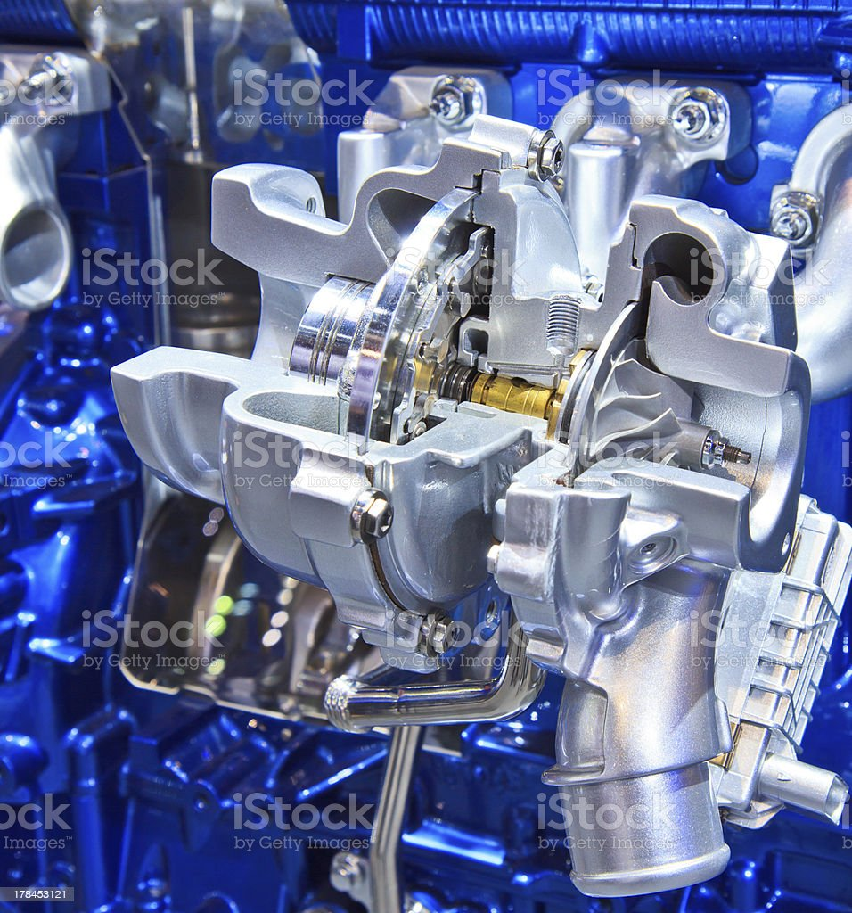 New car engine royalty-free stock photo