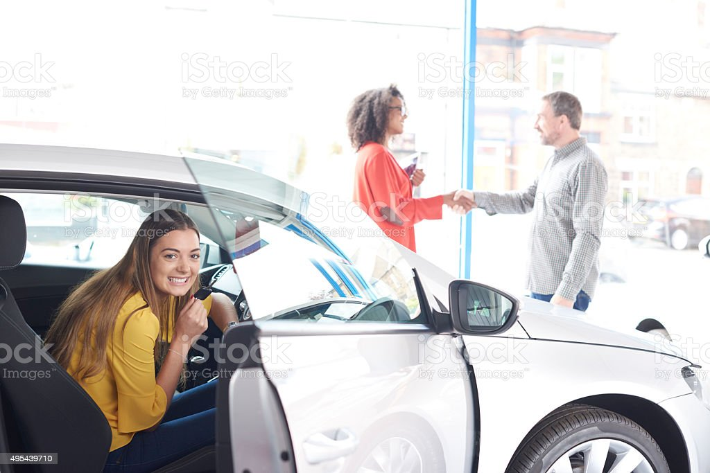 New car for teenager stock photo