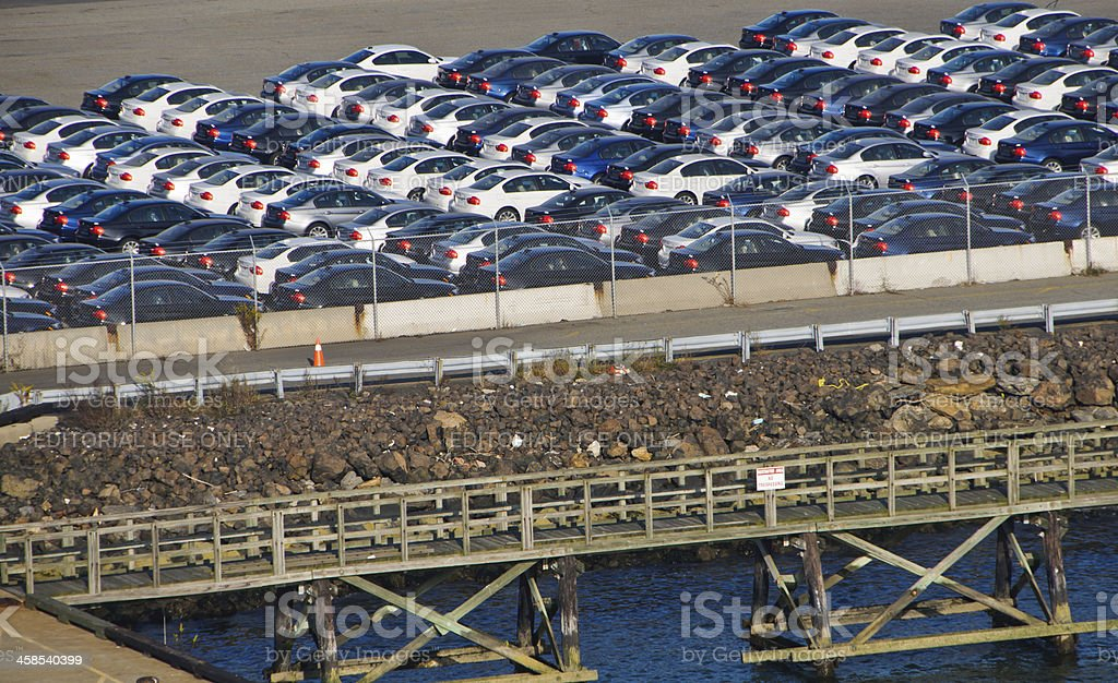 New Car Imports stock photo