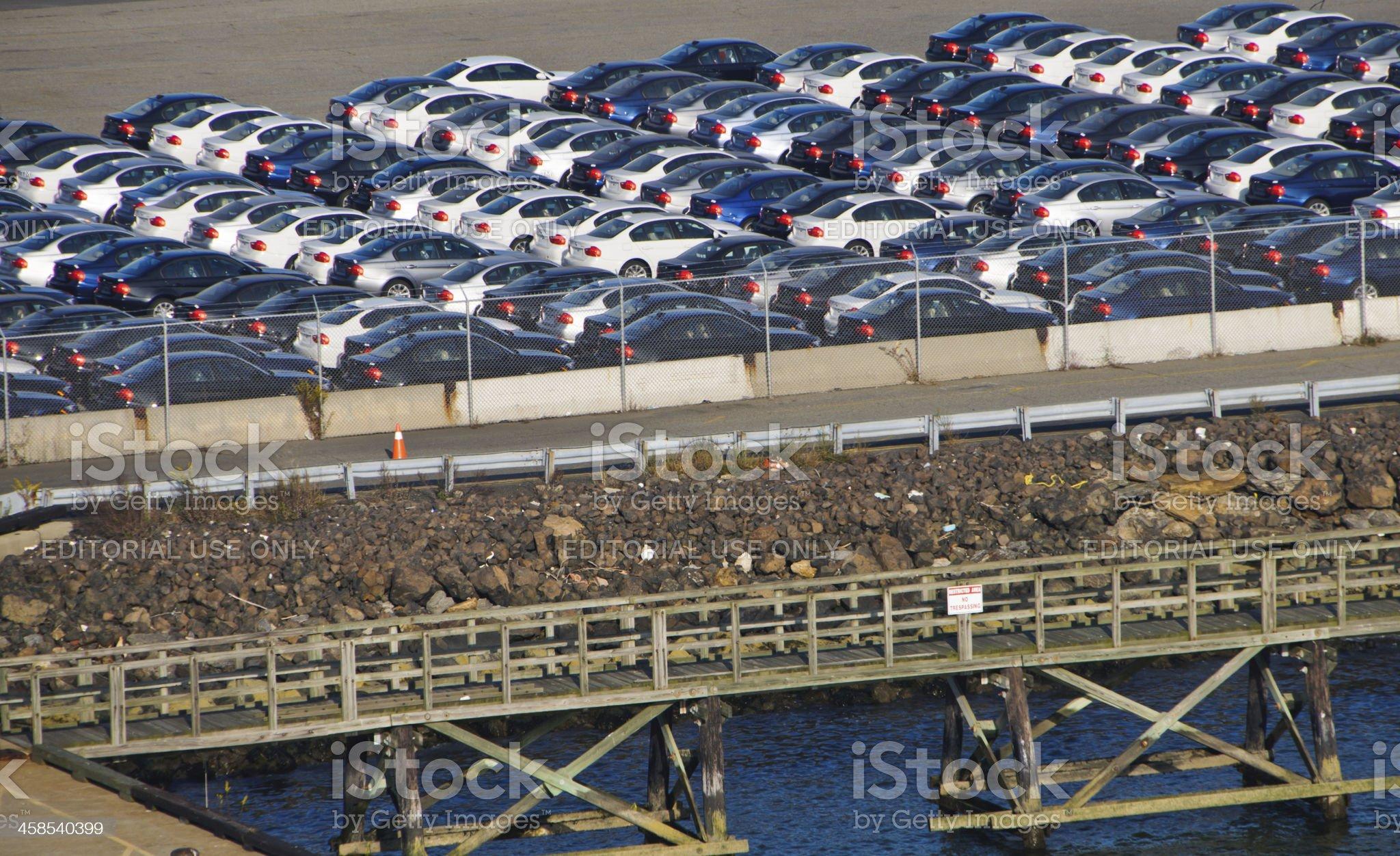 New Car Imports royalty-free stock photo