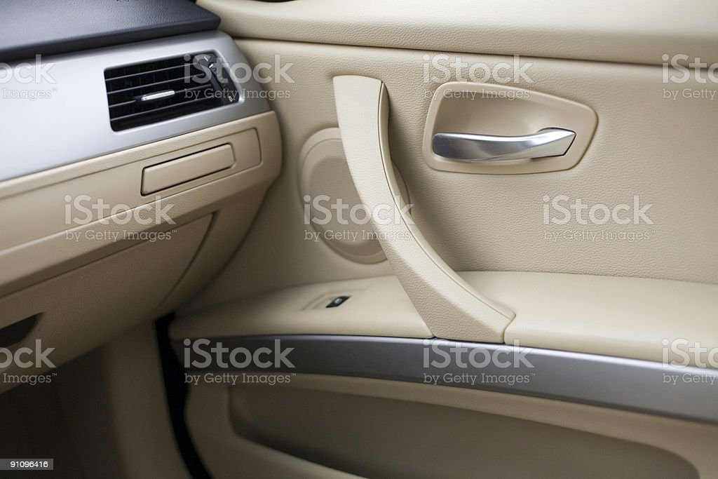 New car interior stock photo