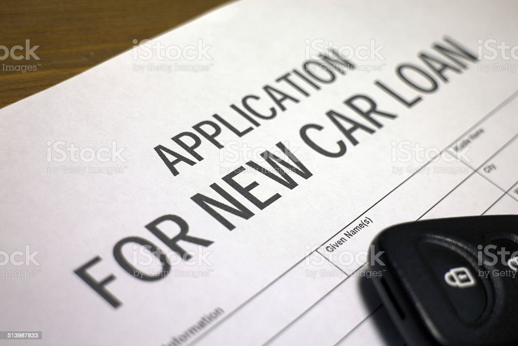 New car loan stock photo