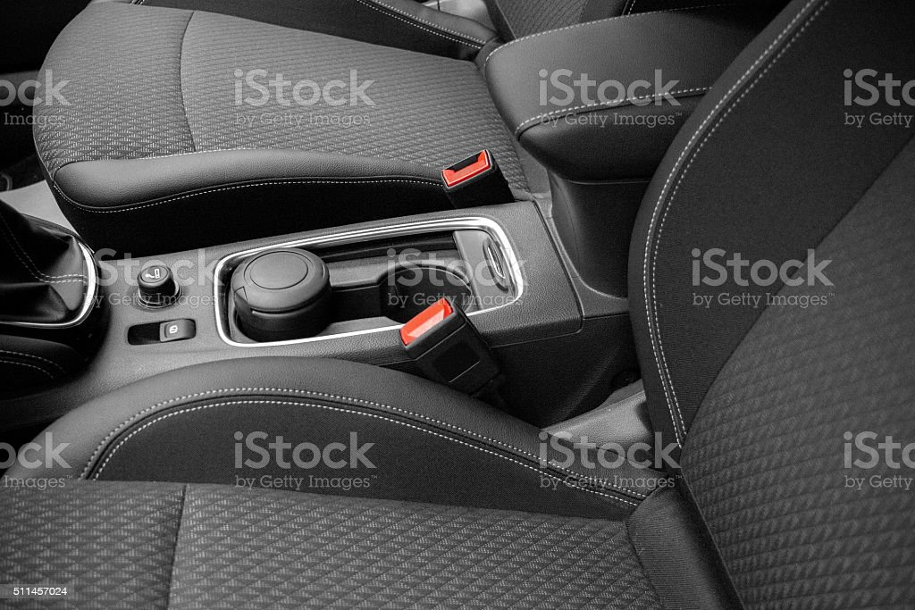 new car seats stock photo
