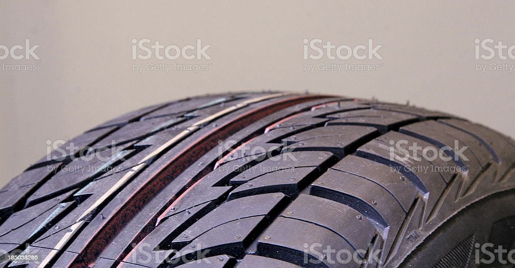 New car tire strips royalty-free stock photo