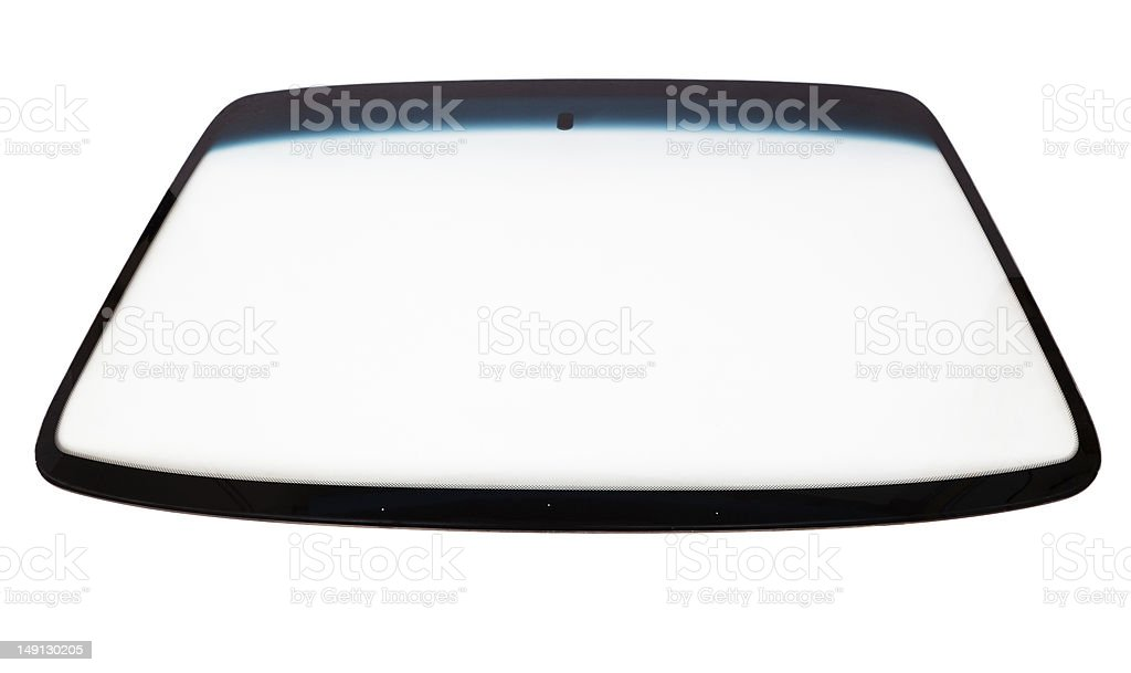 New car windshield stock photo