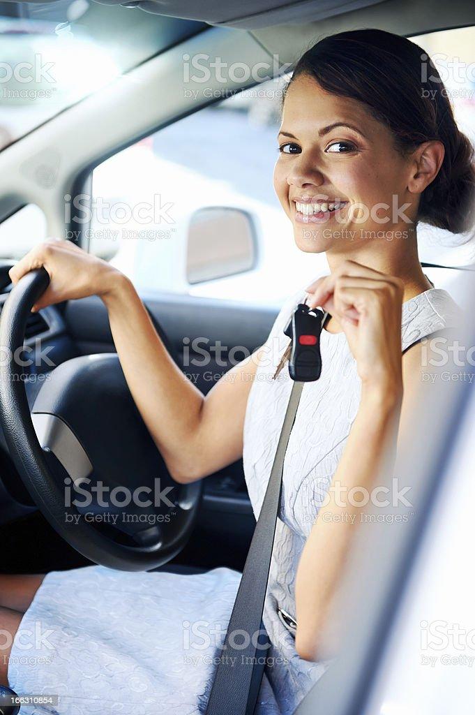 new car woman royalty-free stock photo