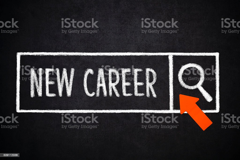 New career-Search stock photo