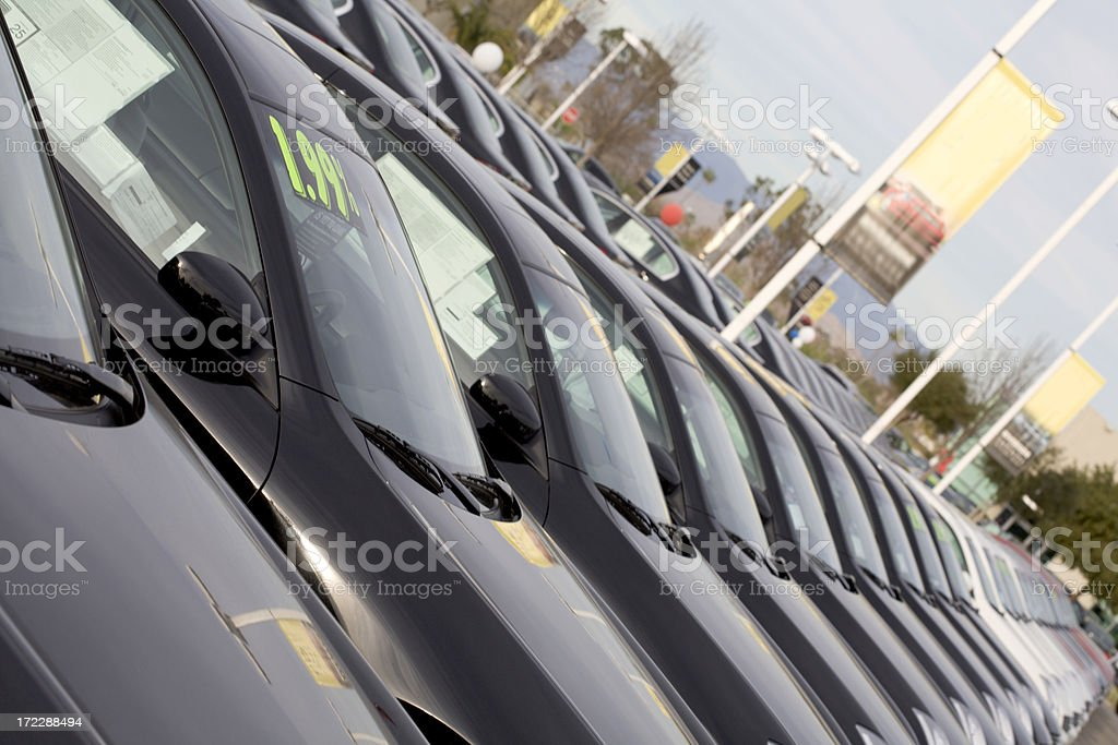 New Cars at a Dealership royalty-free stock photo