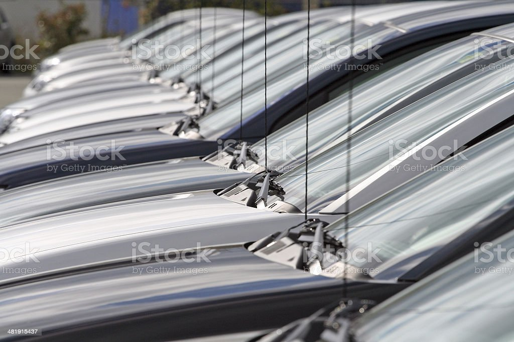 New Cars In A Row royalty-free stock photo