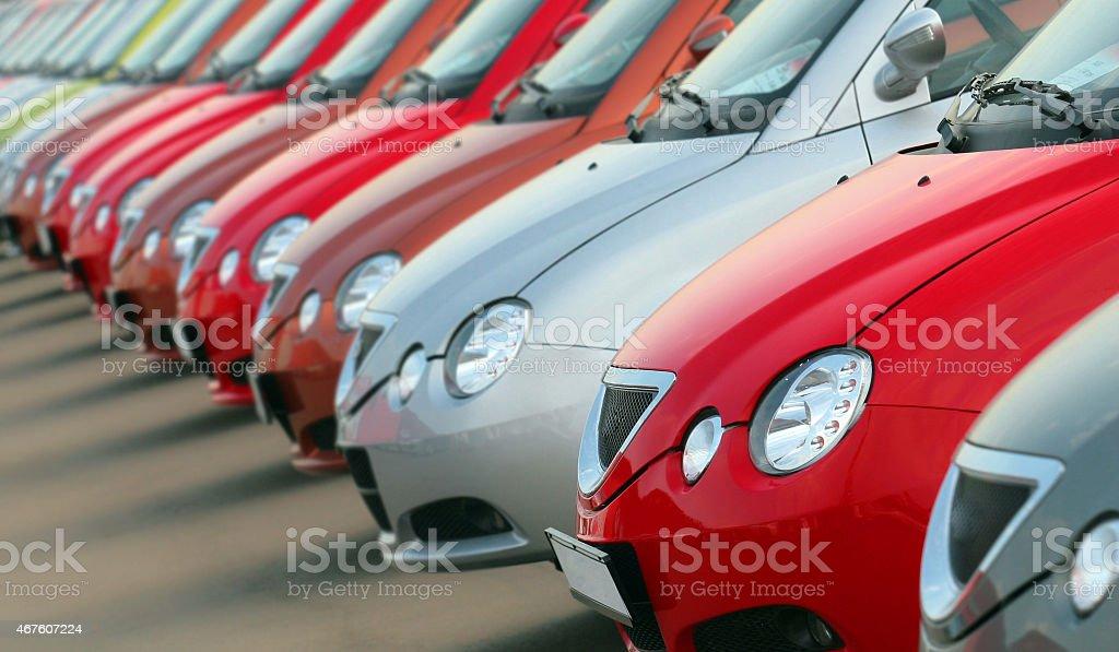 new cars stock photo