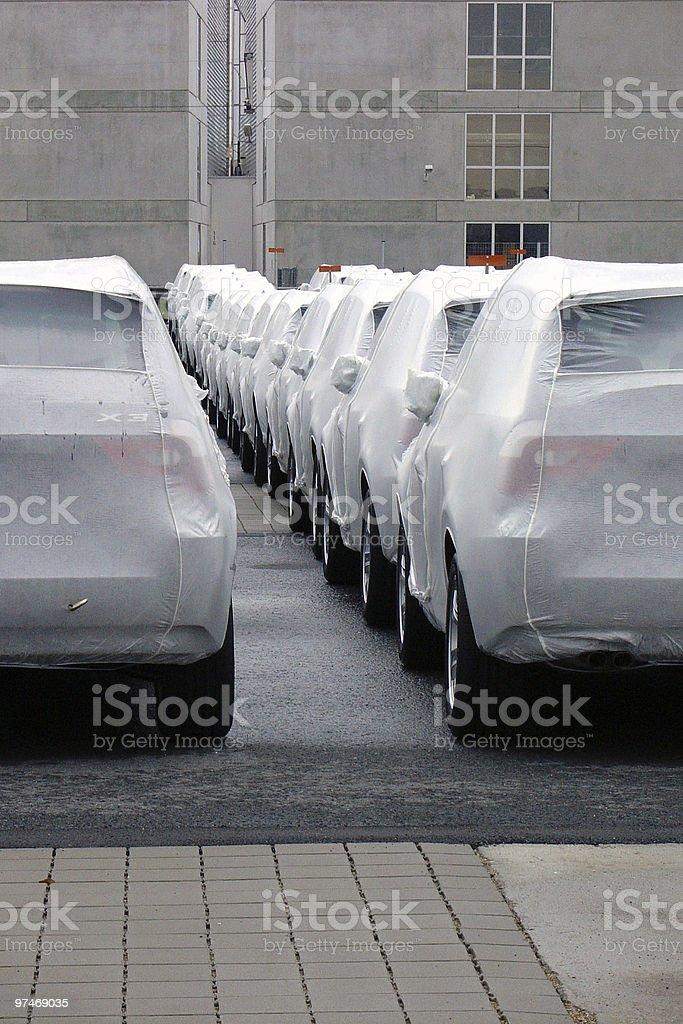 New Cars ready royalty-free stock photo