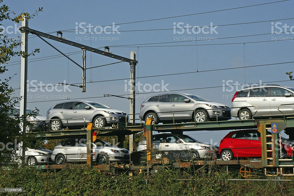 New cars transport # 1 royalty-free stock photo