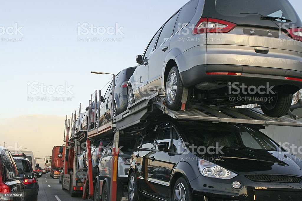 New cars transportation # 2 stock photo
