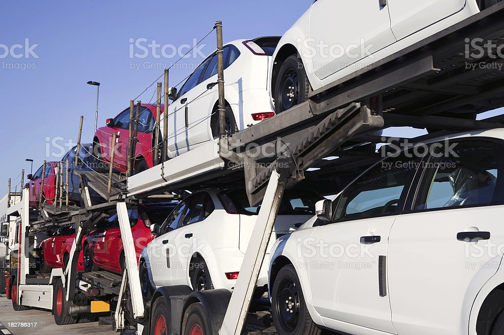 New cars transportation # 3 stock photo