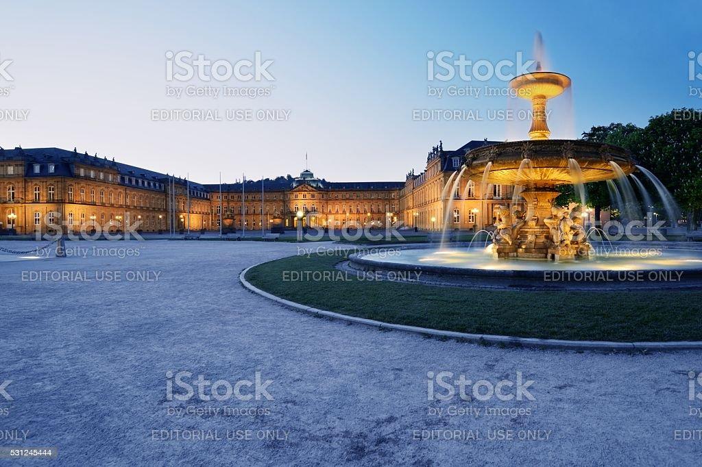 New Castle Stuttgart Blue Hour stock photo