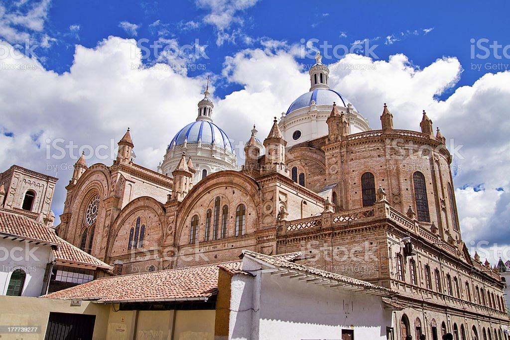 New cathedral in Cuenca with blue sky royalty-free stock photo
